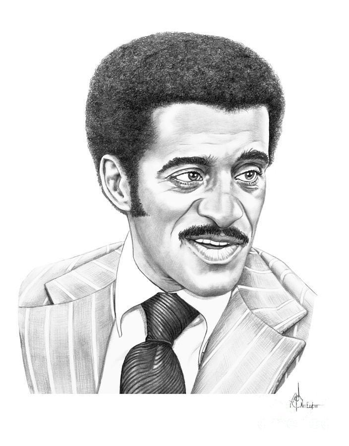 Sammy Davis Jr Drawing  - Sammy Davis Jr Fine Art Print
