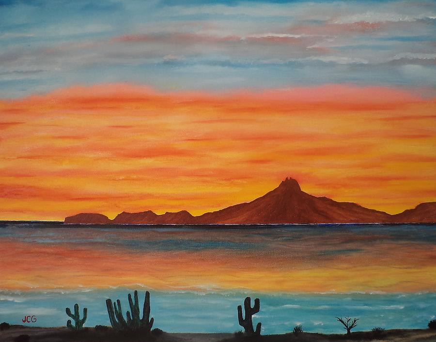 Seascape Painting - San Carlos Bay Mexico by Jorge Cristopulos
