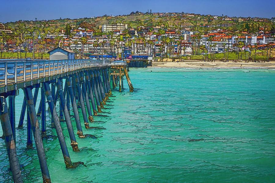 San Clemente Photograph - San Clemente Pier by Joan Carroll