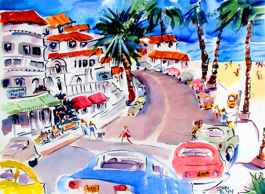 San Clemente Strip Painting  - San Clemente Strip Fine Art Print