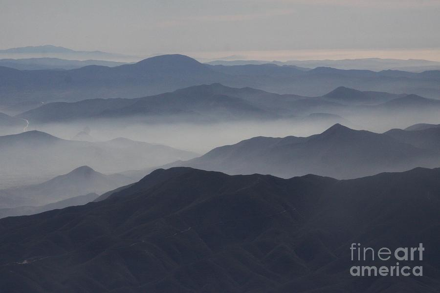 San Diego Hills In Fog And Haze Photograph  - San Diego Hills In Fog And Haze Fine Art Print