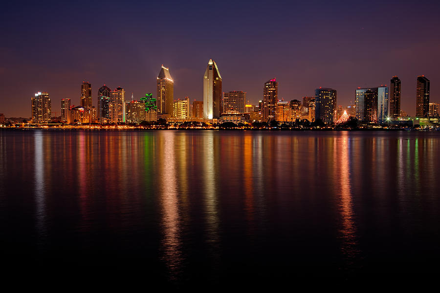 Bay Photograph - San Diego Skyline by Peter Tellone