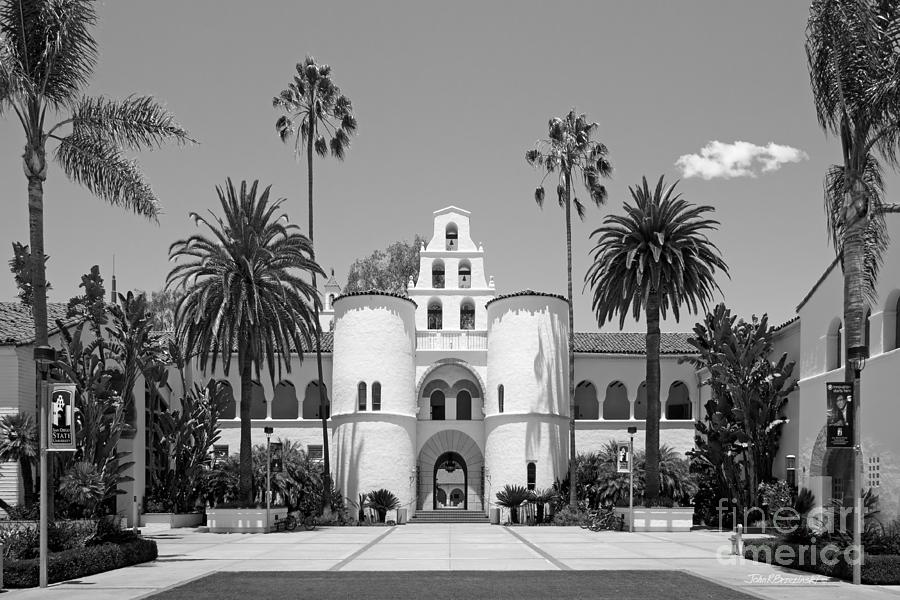 San Diego Photograph - San Diego State University - Hepner Hall by University Icons