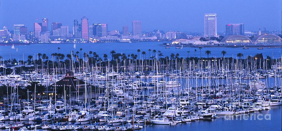 Panoramic Photograph - San Diego Twilight by Sandra Bronstein