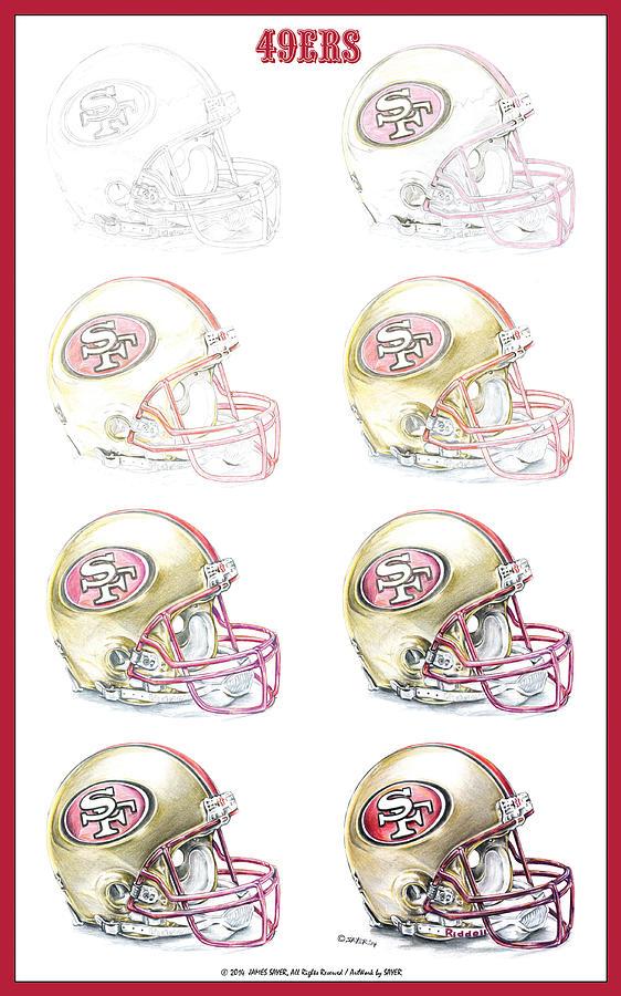 San Francisco 49ers Helmet Steps By James Sayer