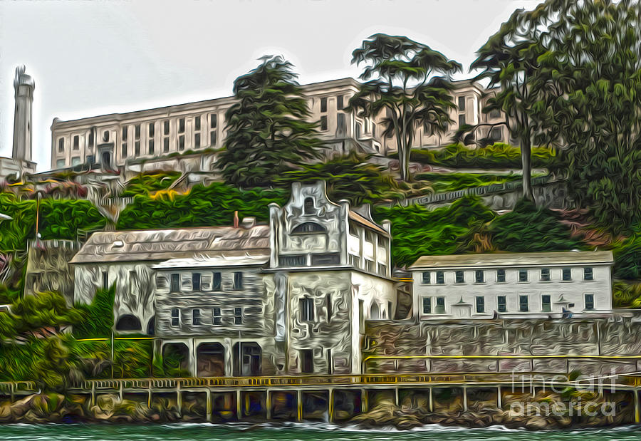 San Francisco Painting - San Francisco - Alcatraz - 05 by Gregory Dyer