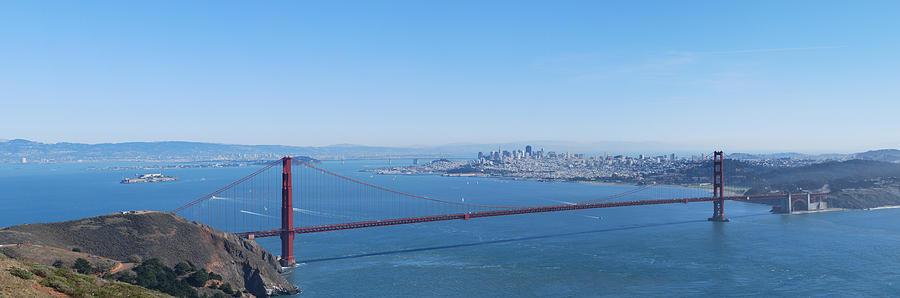 San Francisco And The Golden Gate Bridge Photograph
