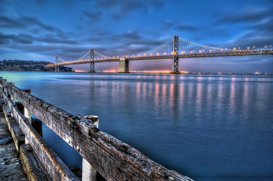 San Francisco Bay Bridge At Dusk Photograph