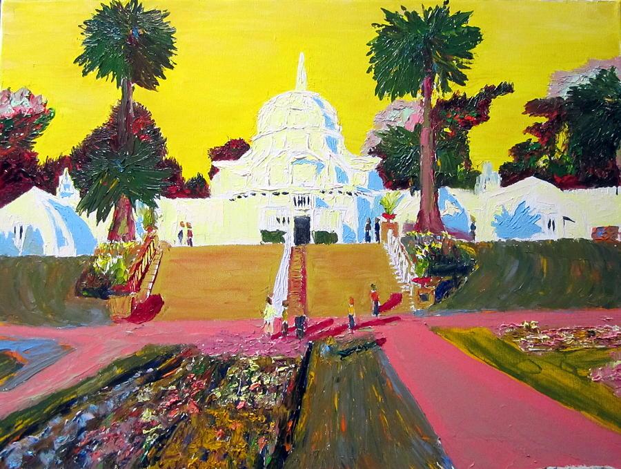 San Francisco Botanical Garden Strybing Arboretum Painting