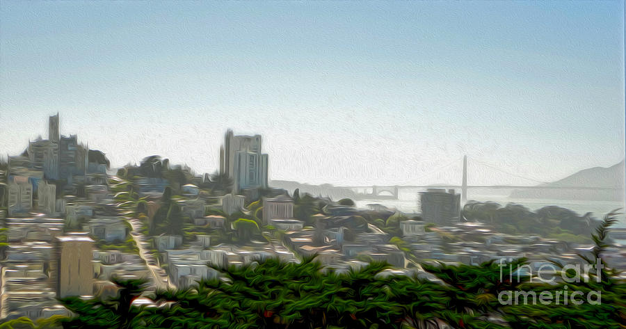 San Francisco Painting - San Francisco - Cityscape - 04 by Gregory Dyer