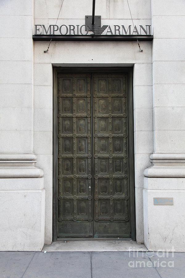 San Francisco Emporio Armani Store Doors - 5d20538 Photograph