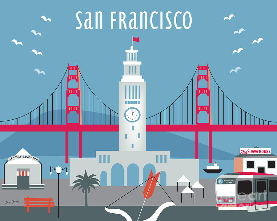 San Francisco Digital Art - San Francisco Ferry Building by Karen Young