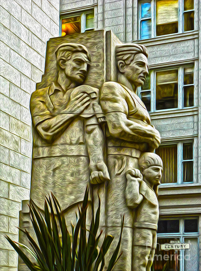 San Francisco - Financial District Statue - 02 Painting