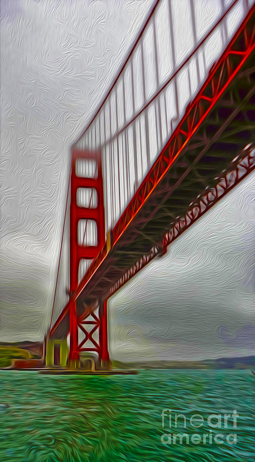 San Francisco - Golden Gate Bridge - 02 Painting  - San Francisco - Golden Gate Bridge - 02 Fine Art Print