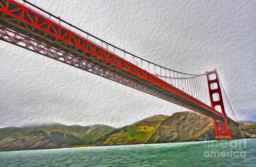 San Francisco - Golden Gate Bridge - 03 Painting  - San Francisco - Golden Gate Bridge - 03 Fine Art Print
