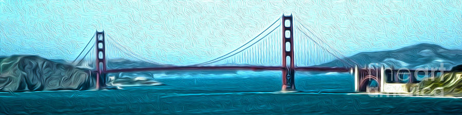 San Francisco Painting - San Francisco - Golden Gate Bridge - 07 by Gregory Dyer