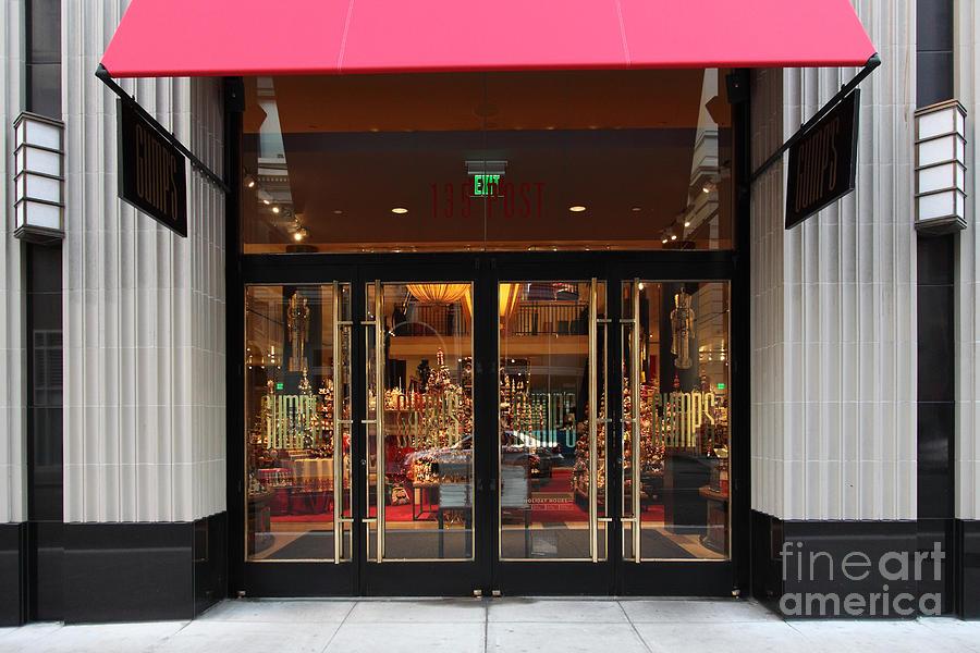 San Francisco Photograph - San Francisco Gumps Store Doors - 5d20588 by Wingsdomain Art and Photography