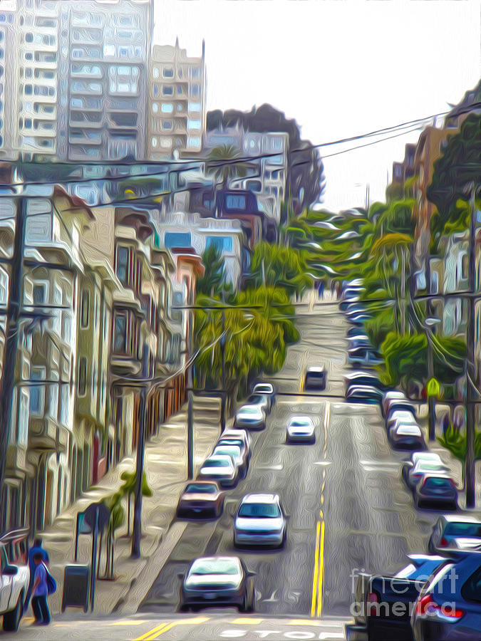 San Francisco - Lombard Street Painting