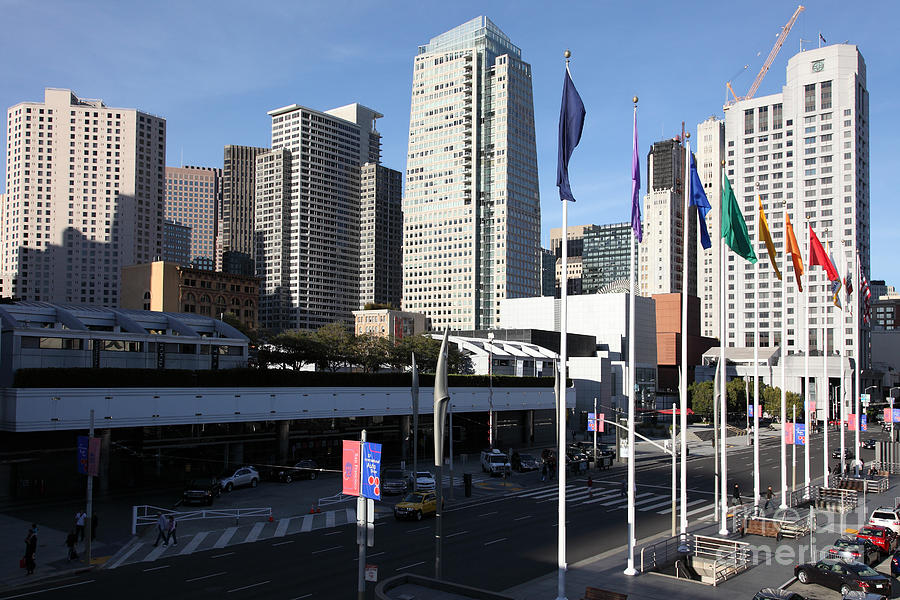 San Francisco Moscone Centerand And Skyline - 5d20504 Photograph