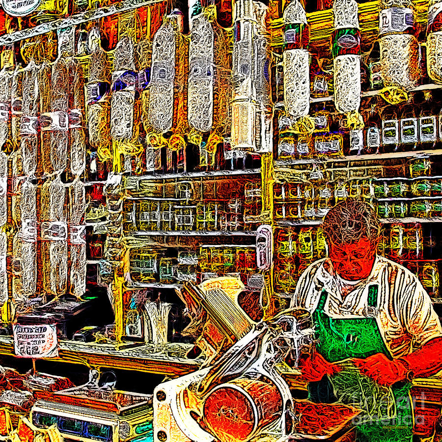 San Francisco North Beach Deli 20130505v2 Square Photograph  - San Francisco North Beach Deli 20130505v2 Square Fine Art Print