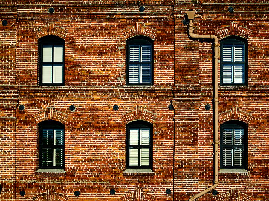 brick apartment building stock photo neo classical gothic