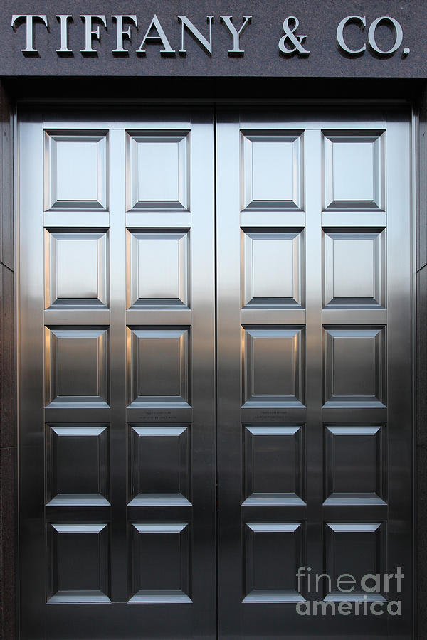 San Francisco Tiffany And Company Store Doors - 5d20561 Photograph
