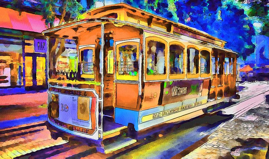 San Francisco Trams 1 Digital Art