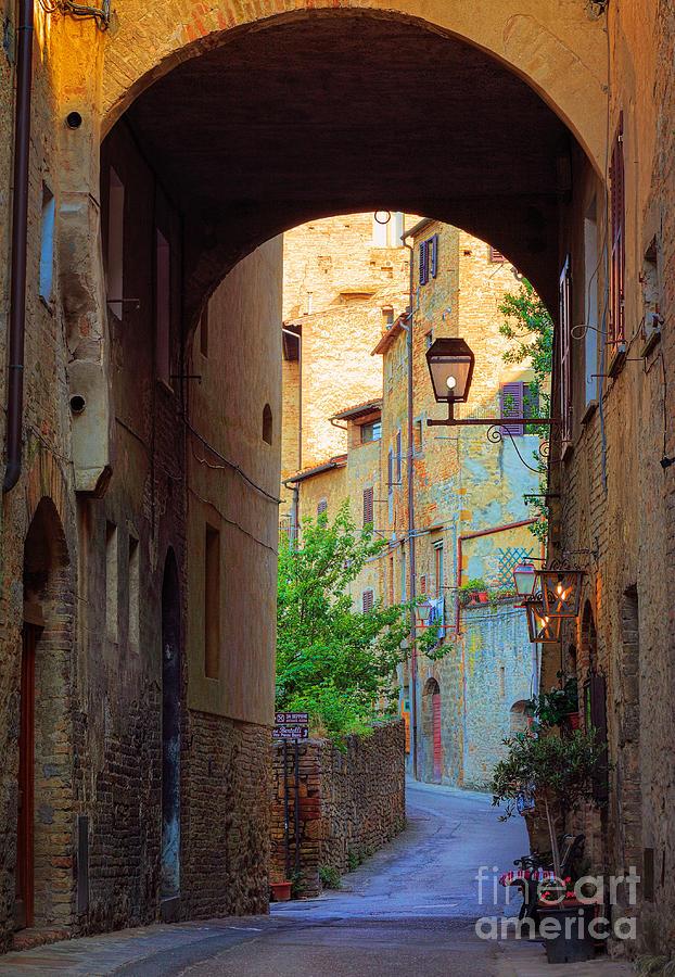 San Gimignano Archway Photograph