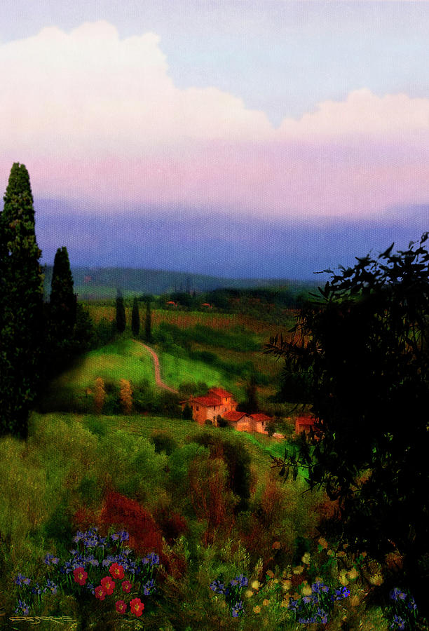 Patrick-j-osborne Painting - San Gimignano by Patrick J Osborne