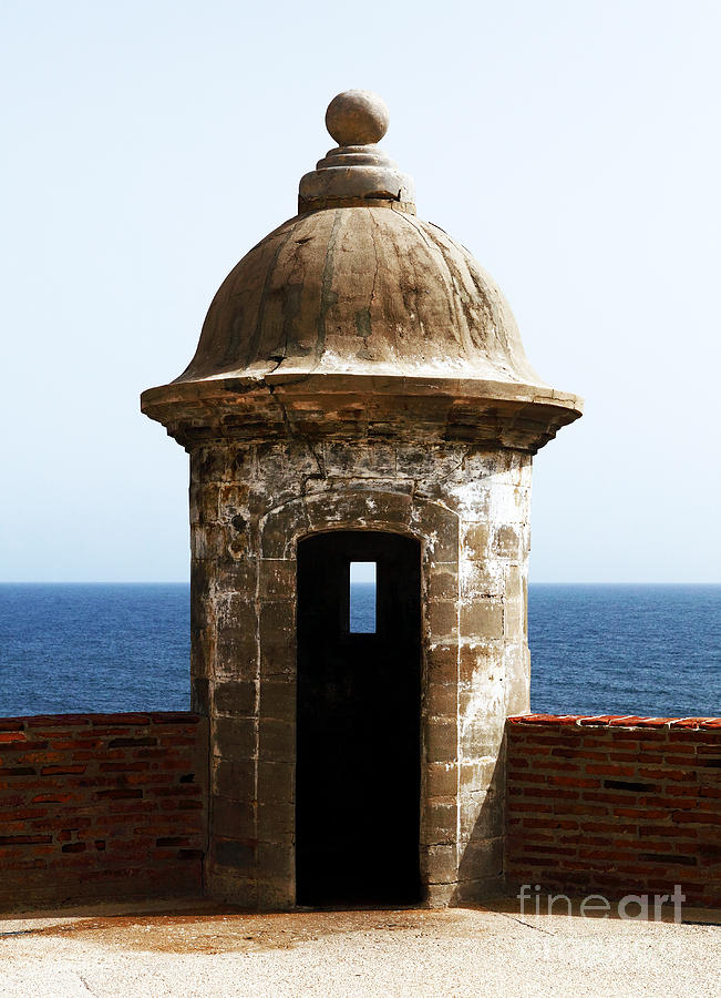 San Juan Guard Tower In Color Photograph  - San Juan Guard Tower In Color Fine Art Print