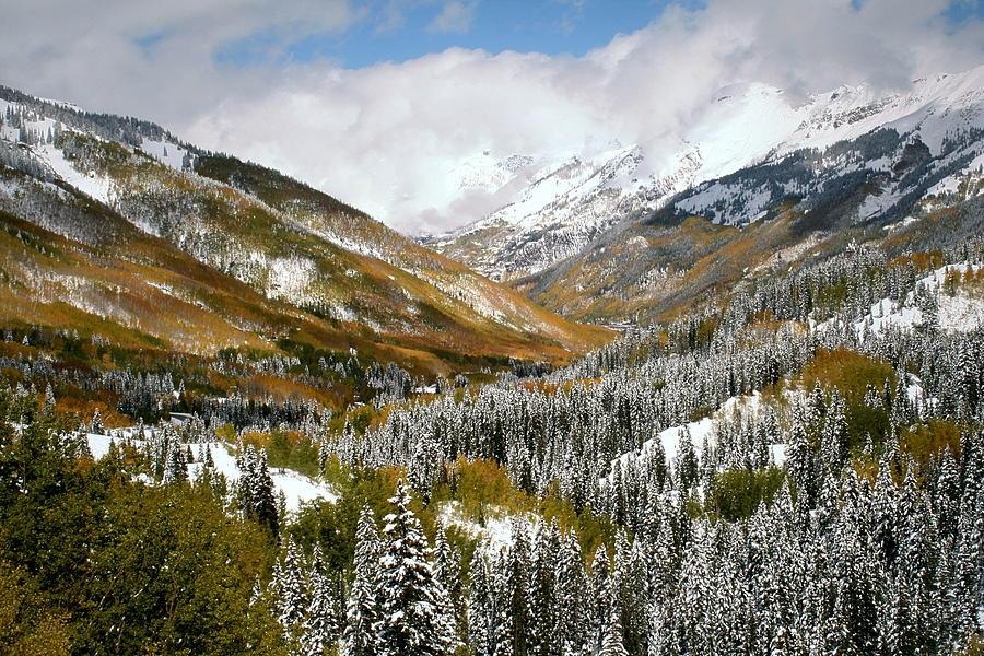 San Juan Mountains After Recent Snowstorm Photograph