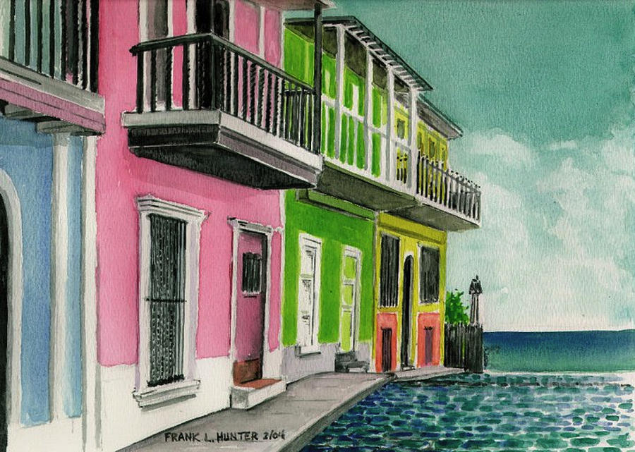 San Juan Puerto Rico Street Sceen is a painting by Frank Hunter which ...