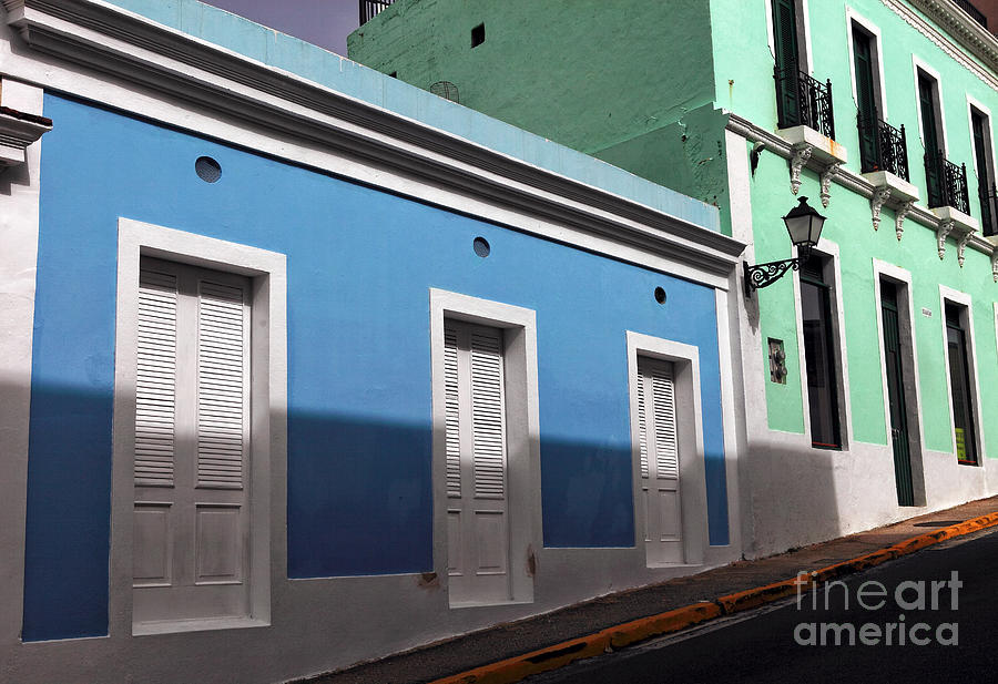 San Juan Street Colors Photograph