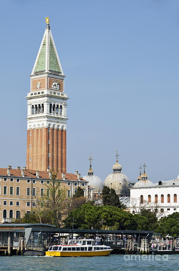San Marco Bell Tower By Grand Canal Photograph