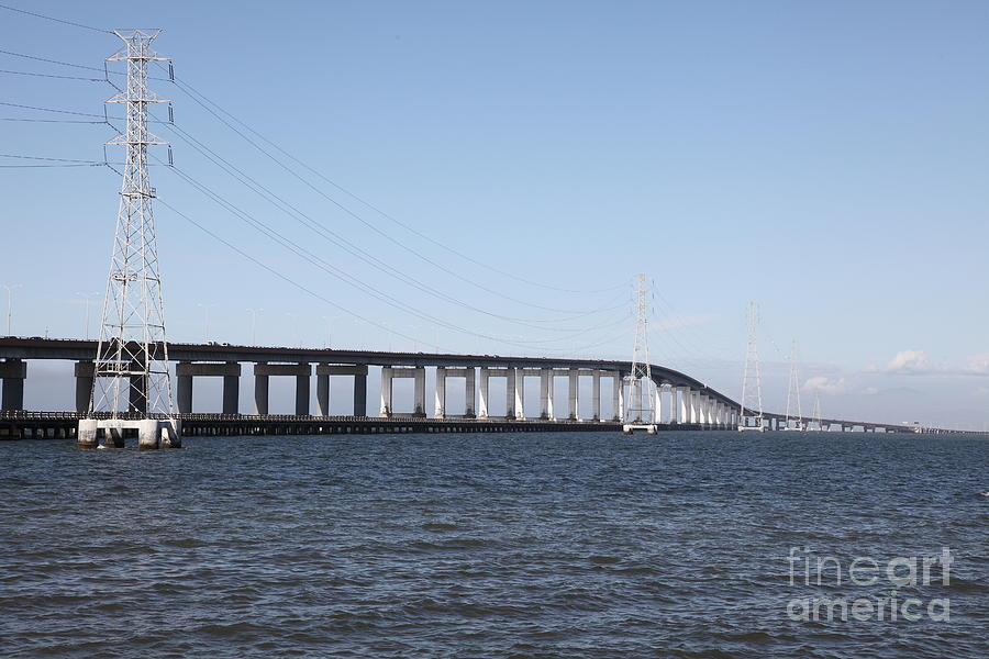 San Mateo Bridge In The California Bay Area 5d21889 Photograph  - San Mateo Bridge In The California Bay Area 5d21889 Fine Art Print