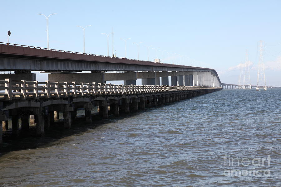 San Mateo Bridge In The California Bay Area 5d21892 Photograph