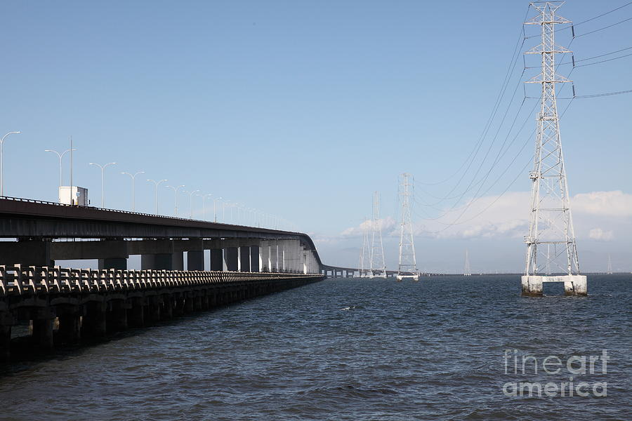 San Mateo Bridge In The California Bay Area 5d21893 Photograph  - San Mateo Bridge In The California Bay Area 5d21893 Fine Art Print