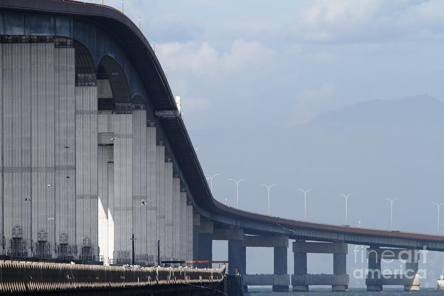 San Mateo Bridge In The California Bay Area 7d21914 Photograph
