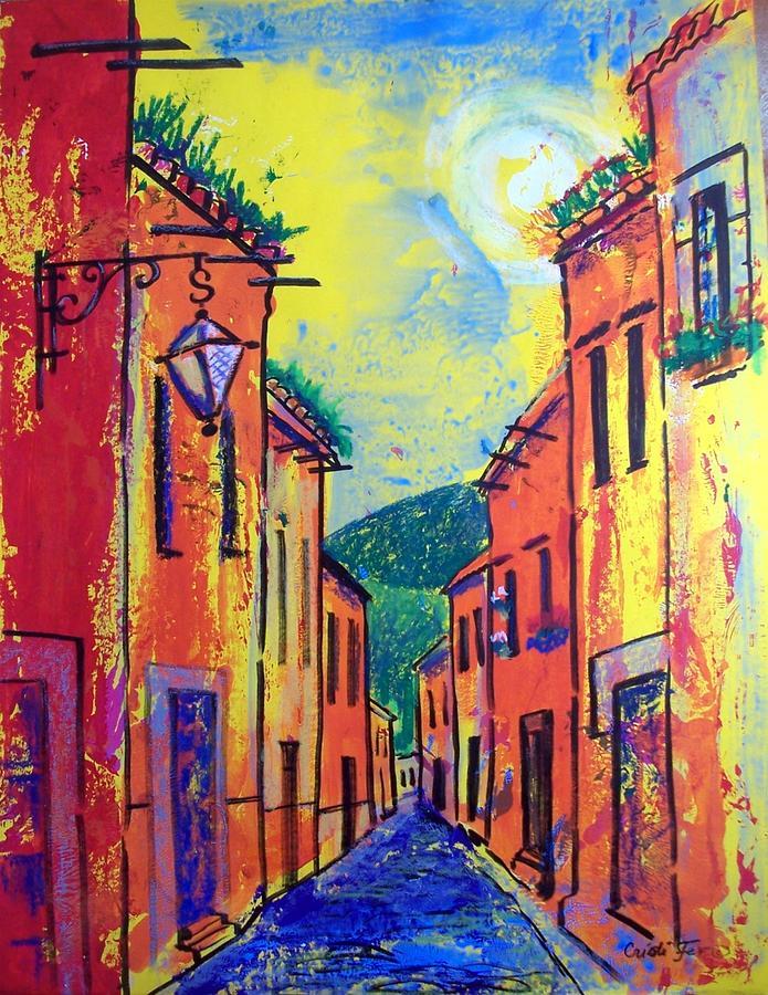 San Miguel Narrow Street Painting