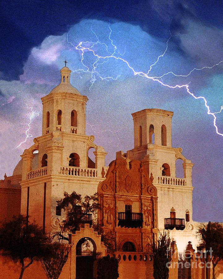 Arizona Photograph - San Xavier by Jeanette Brown