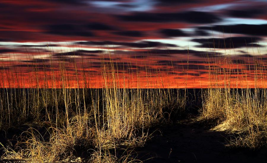 Sand Dune Sunrise Photograph - Sand Dune Sunrise by JC Findley