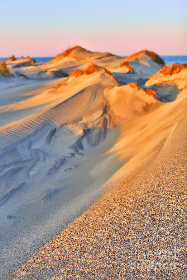 Sand Dune Sunset - Outer Banks Photograph