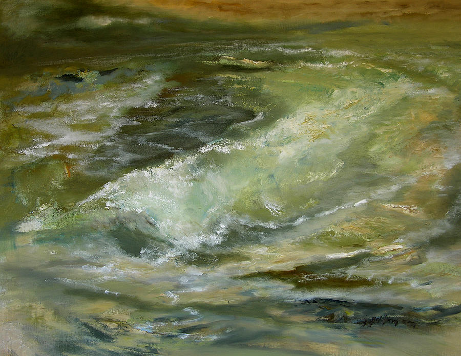 Sandbar And Surf  3-13-13 Painting  - Sandbar And Surf  3-13-13 Fine Art Print