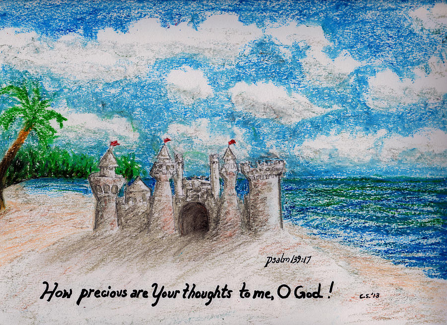 Sandcastle Painting  - Sandcastle Fine Art Print