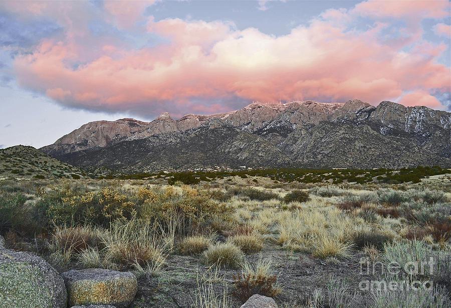 Sandia Sunset Mountain Photograph