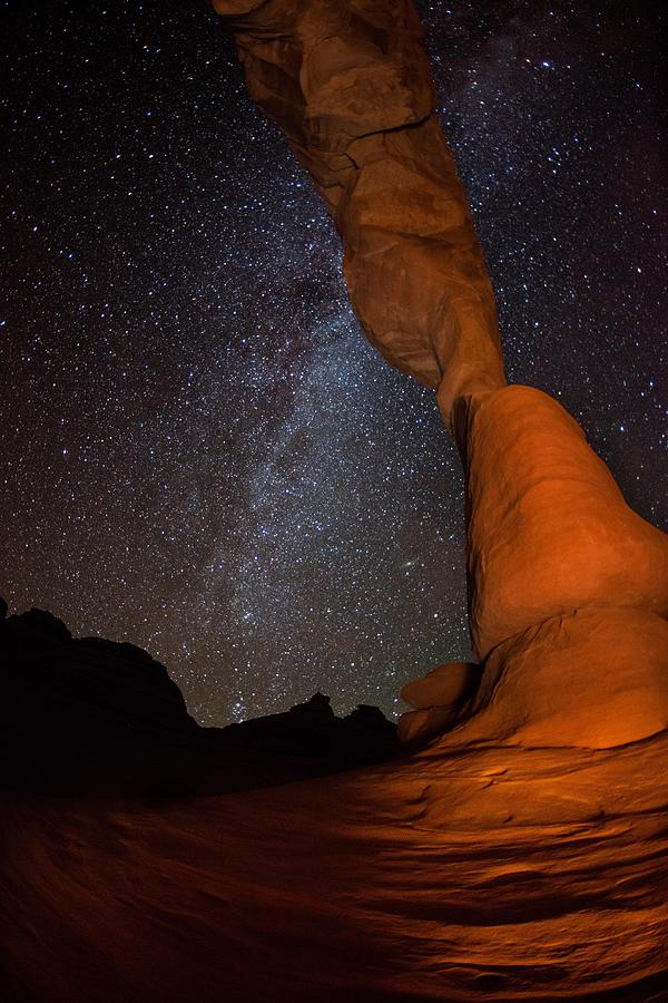 Sandstone Arch Meets Milky Way Skies Photograph