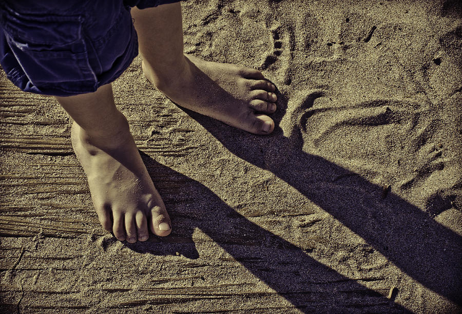 Sandy Feet  Photograph  - Sandy Feet  Fine Art Print