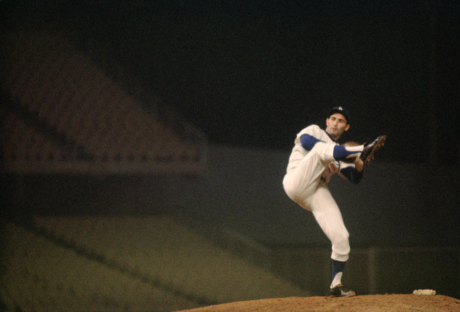 Sandy Koufax High Kick Photograph