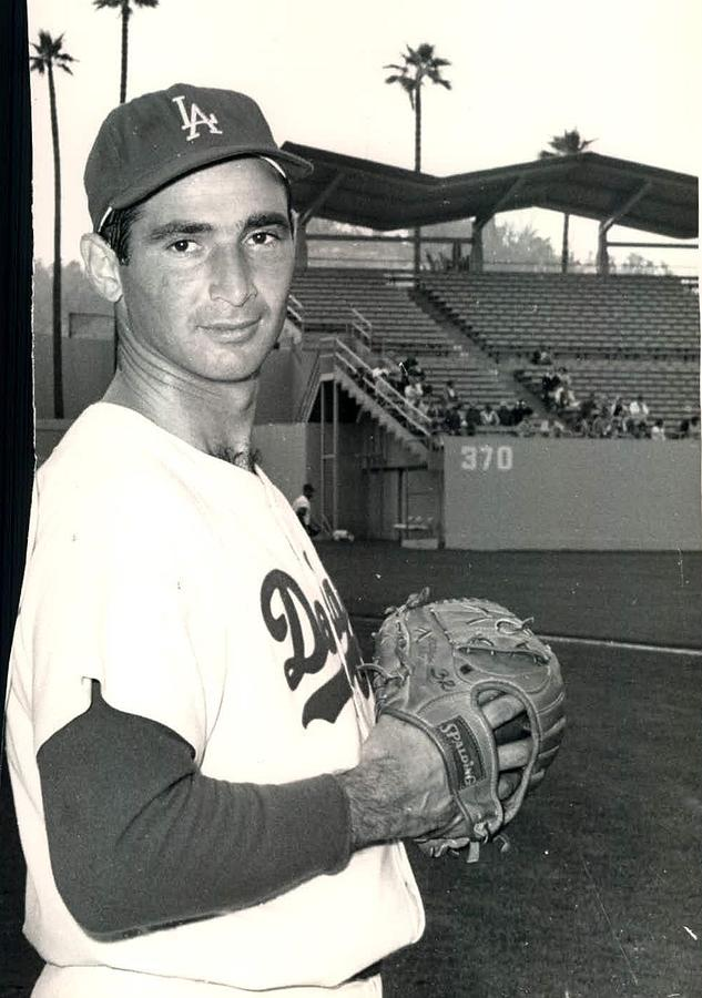 Sandy Koufax Photo Portrait Photograph  - Sandy Koufax Photo Portrait Fine Art Print
