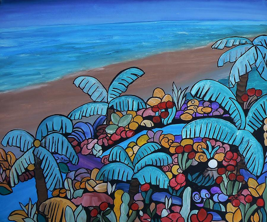 Santa Barbara Beach Painting  - Santa Barbara Beach Fine Art Print